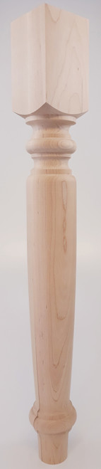 "Bolton Dining Table Leg - 29"" Tall x 3 1/2"" Tall"