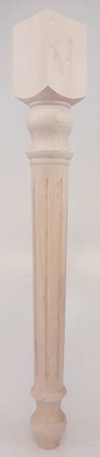 """Fluted Midway Dining Table Leg - 29"""" Tall x 3 1/2"""" Wide"""