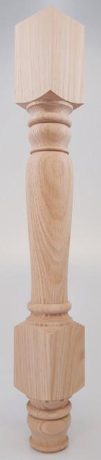 "Tavern Dining Table Leg 29"" Tall x 3 1/2"" Wide"