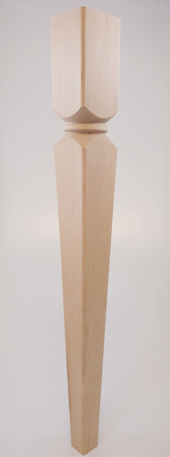 "Kirtland Tapered Dining Table Leg - 29"" Tall x 3"" Wide"