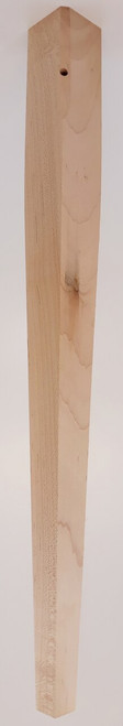 "2 Sided Tapered End Table Leg 21 1/4"" Tall x 1 3/4"" Wide"