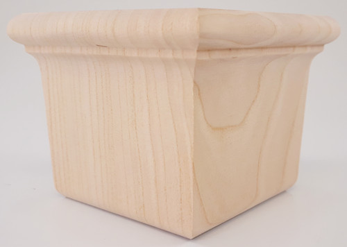 "Square Woodhouse Bun Foot 2 5/8"" Tall x 3 3/8"" Wide"