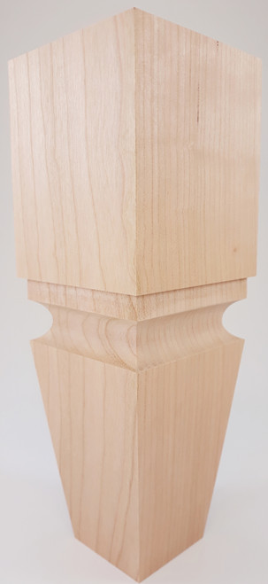 "Square Cascadia Turned Sofa Leg - 10"" Tall x 3 1/2"" Wide"
