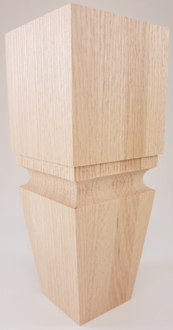 "Square Cascadia Turned Sofa Leg - 10"" Tall x 4"" Wide"