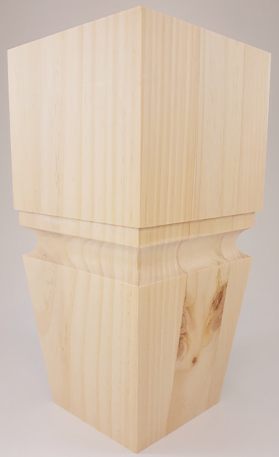"Square Cascadia Turned Sofa Leg - 10"" Tall x 5"" Wide"