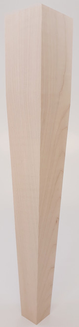 "2 Sided Tapered End Table Leg - 21"" Tall x 3"" Wide"