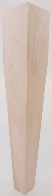 "2 Sided Tapered End Table Leg - 21"" Tall x 3 1/2"" Wide"