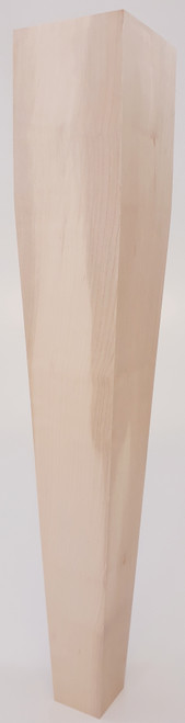 "4 Sided Tapered End Table Leg - 21"" Tall x 3 1/2"" Wide"