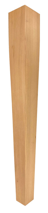 """Dining Table Leg - 29"""" Tall x 3 1/2"""" Wide - 4 Sided Tapered"""