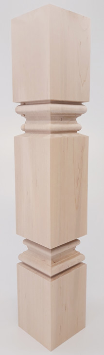 """Square Meridian End Table Leg Turned Both Ends 21"""" Tall x 3 1/2"""" Wide"""