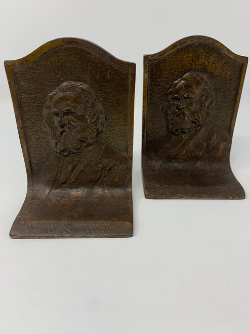Bookends of Henry W. Longfellow