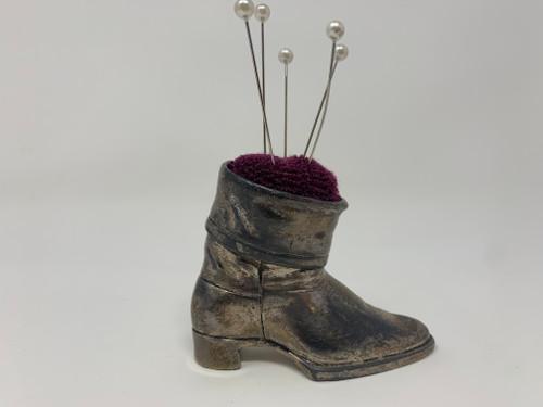 Silver Boot Pin Cushion - Vintage