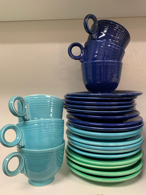 Fiestaware! Original Mid Century! Blue and Green! Priced Individually