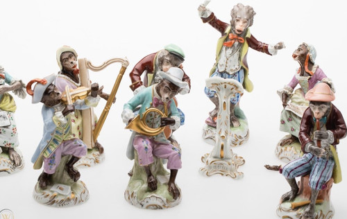 Be Still My Heart!!! It's A Dresden Monkey Band! Swoon Swoon!