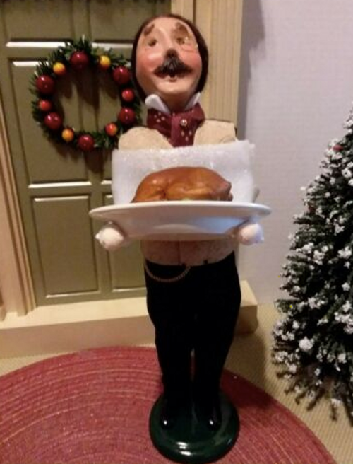 Byers Choice Butler With Turkey*