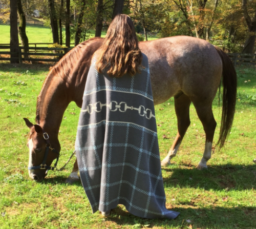Throw Horse Bit Classic Equestrian Pattern Blanket From In2Green*