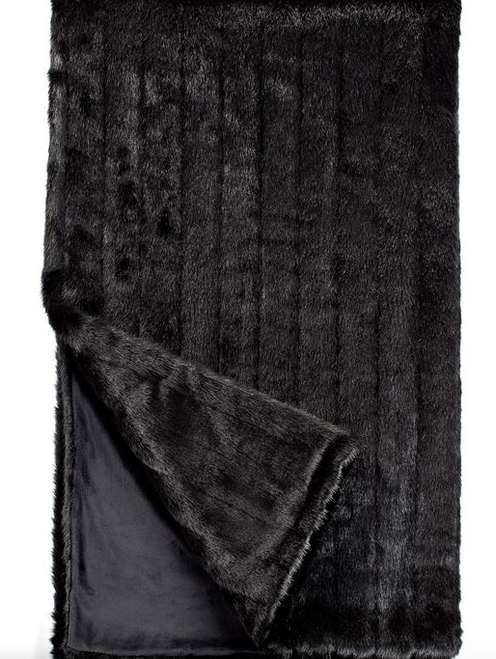 Throw Fabulous Faux Furs- Black Mink 60x86*