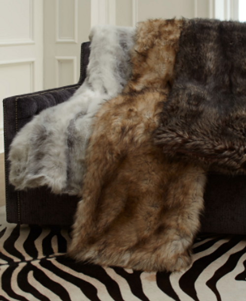 Throw Fabulous Faux Furs- Silver Fox Limited Edition Last One In Greys*