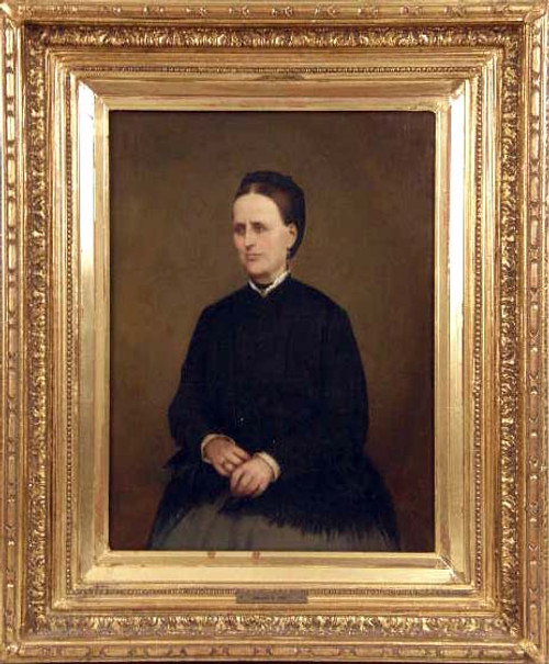 A Fine European Portrait of a Woman in Black *Damaged Price Adjusted