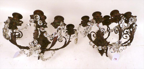French Wall Sconces with Crystal - Priced Each