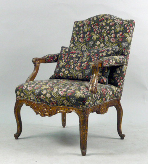 A Louis XV Carved Gilt Chair