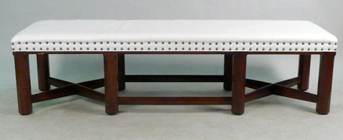 A Hickory Chair Trestle Base Bench