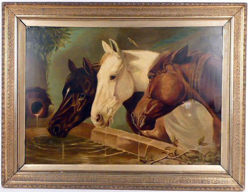 Beauregard Horses Oill on Canvas