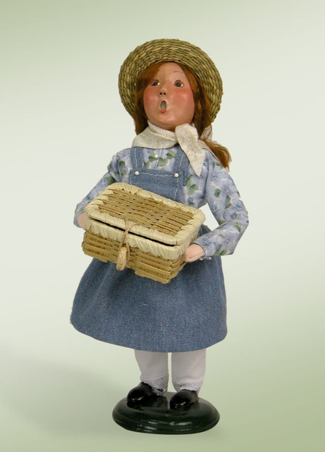 Byers Choice Picnic Girl - Signed