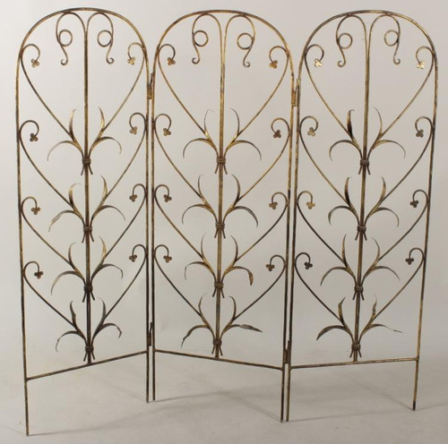 A Gilt Screen- Wrought Iron Mid 20th Century