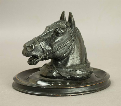 Handsome Horse Head Inkwell