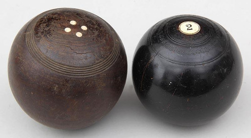 Pair of Antique English Lawn Balls. Hard to Find.