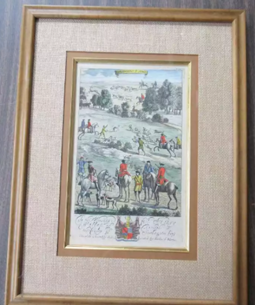 Antique English Equestrian Hunt Engravings- Priced Each