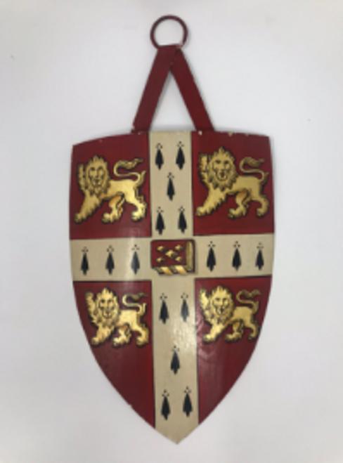Antique Cambridge Heraldic Shield. English.