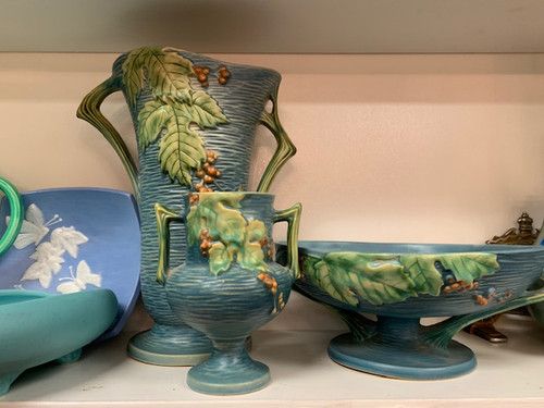 Bush Berry Roseville Vintage Art Pottery Signed - Priced Each