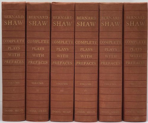 George Bernard Shaw 6 Volume Set of Plays with Prefaces