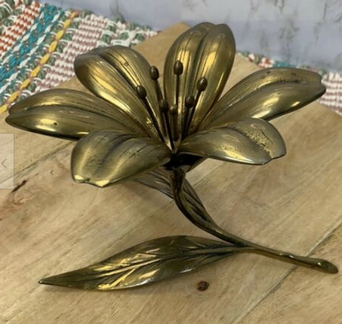Floral Cool Vintage Brass Decorative Flower and Personal Ashtrays/Nut Dishes