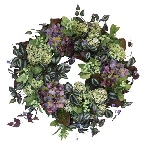 *Spring  Wreath in Greens and Purples