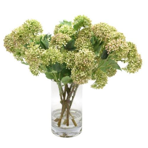 Floral Hydrangeas in Glass Vase Floral *