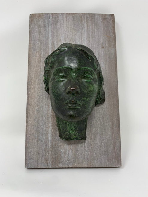 """Victor Salvatore Sculpture,  """"Mask of a Woman"""""""