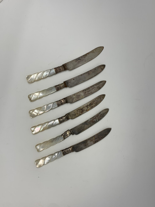 A Set Of Fish Knives - Sheffield of England for Bailey Banks & Biddle Philadelphia