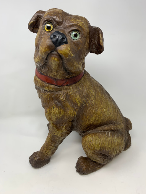 Victorian Seated Left Facing Pug