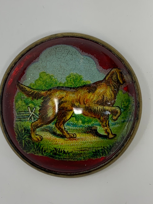 Bridle Pin With Dog In The Landscape