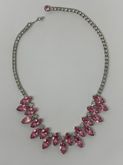 Vintage Pink Necklace by Weiss