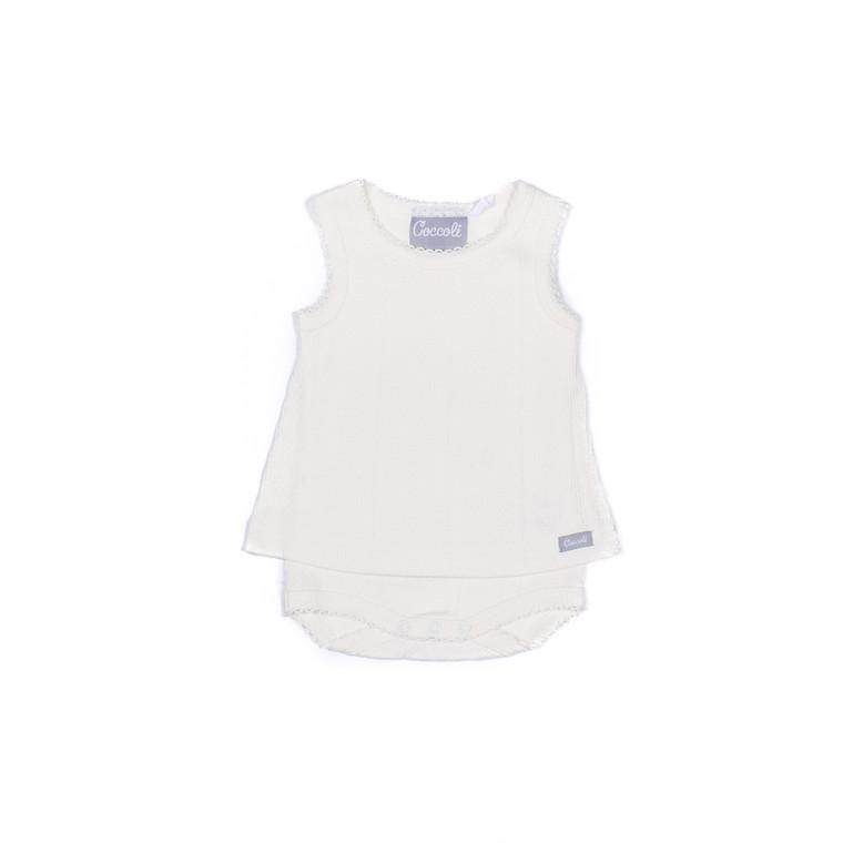 Coccoli Pointelle | Skirted Bodysuit | 1m-18m | KR4826-200