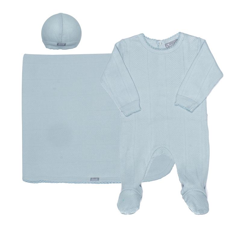 Coccoli Pointelle | Footie+Cap+Blanket | N-3m | MR4866-800