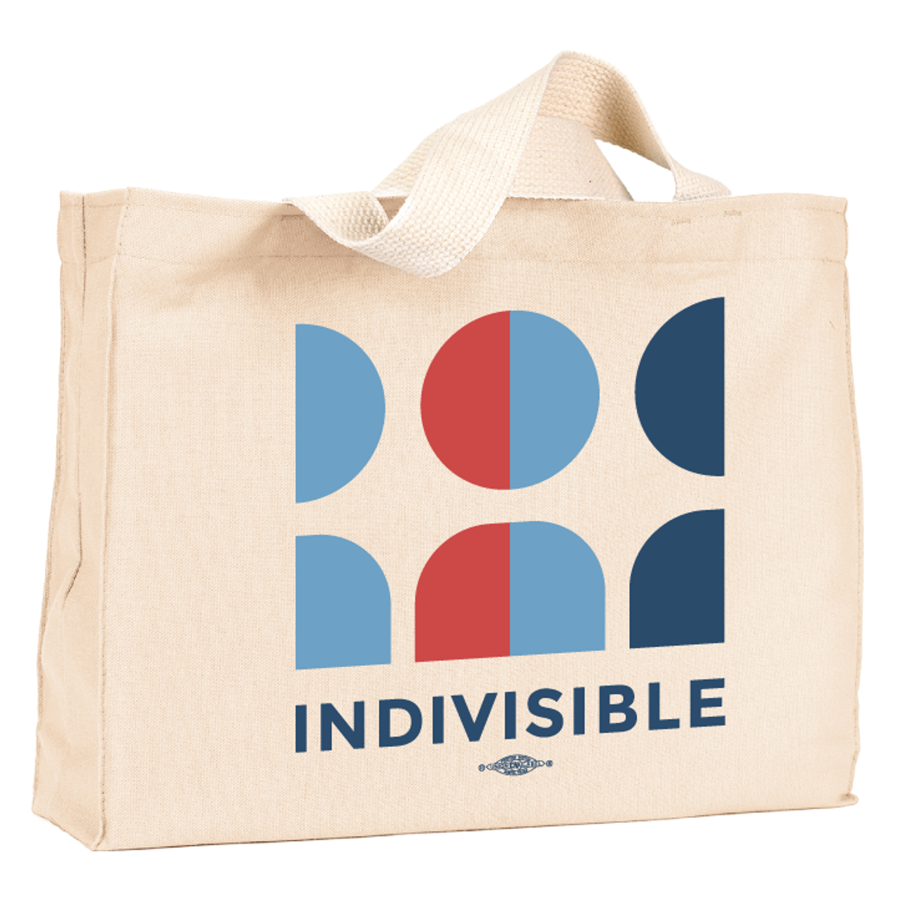 716808506 Indivisible Official Logo (Natural Canvas Tote) - Indivisible Webstore