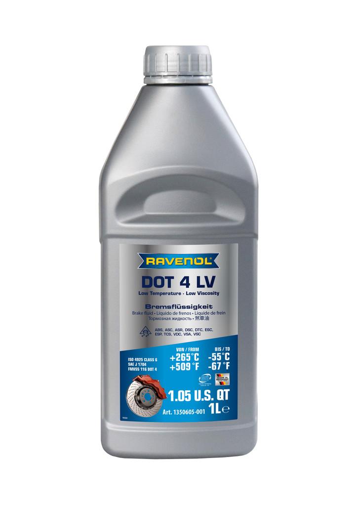 1 Liter - RAVENOL DOT 4 LV Brake Fluid