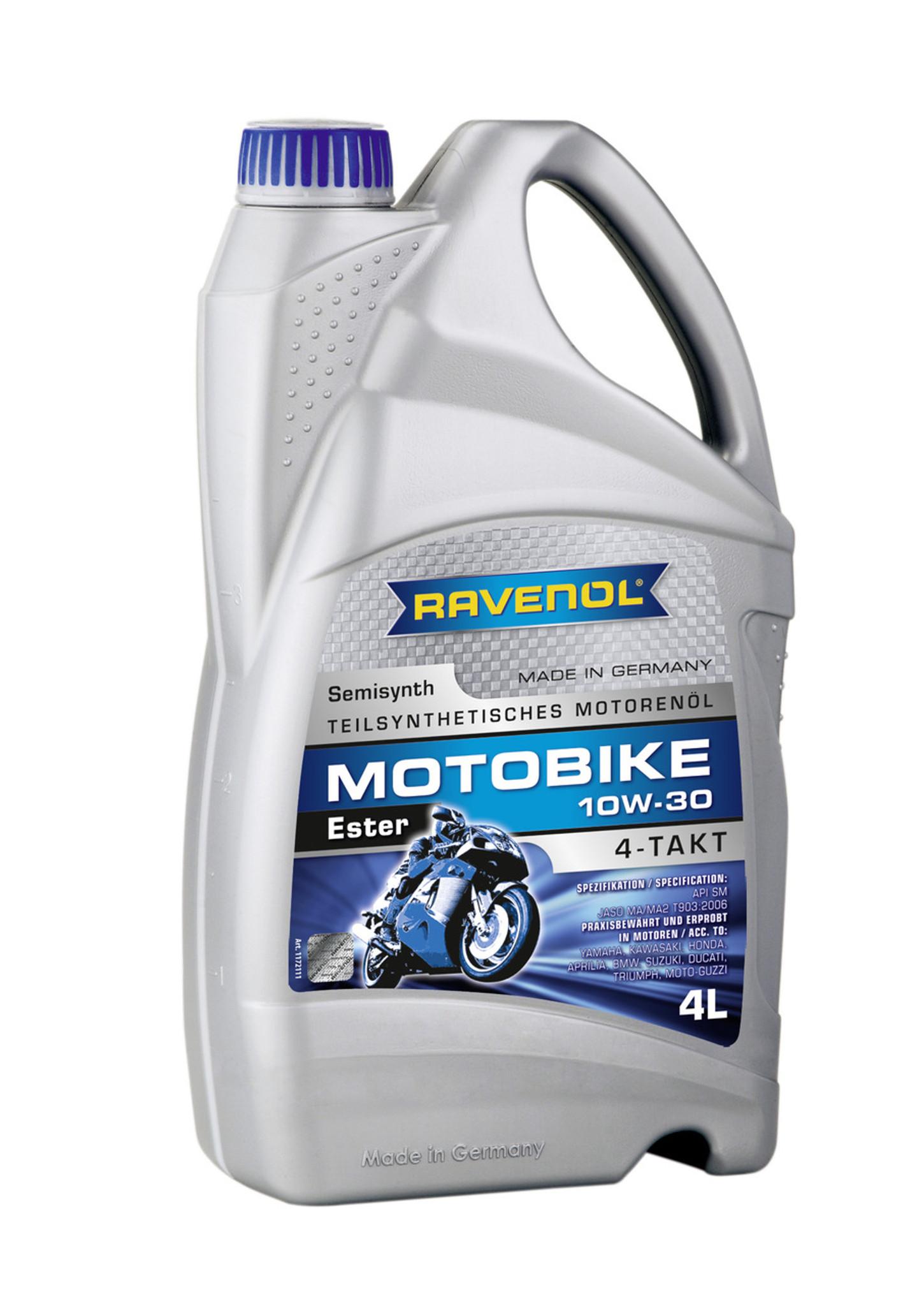 4 Stroke Motorcycle Oil - RAVENOL Motobike 4-T Ester 10W-30