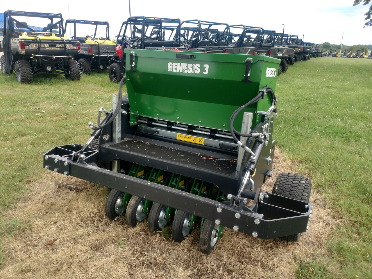 Genesis 3 ft Food Plot Drill for Tractor w/ Coulter Kit