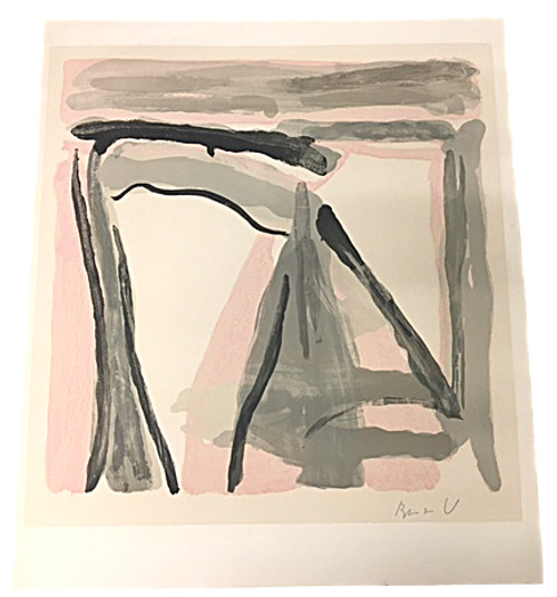 Bram van Velde - Gouache on Paper Signed